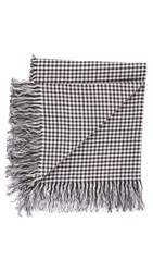 Our Legacy Linen Gingham Scarf Black