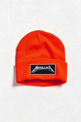 Urban Outfitters Metallica Beanie Orange
