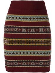 Jean Paul Gaultier Vintage Knitted Skirt Burgundy