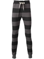 Junya Watanabe Comme Des Garcons Man Striped Sweatpants Black