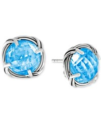 Peter Thomas Roth Blue Topaz Stud Earrings 10 Ct. T.W. In Sterling Silver
