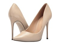 Massimo Matteo Pointy Toe Pump 17 Linen Shoes Beige