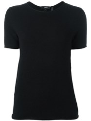 Theory Short Sleeve Jumper Black