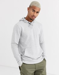 Only And Sons Basic Hoodie In Grey