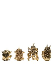 L'objet X Haas Brothers Monster Ball Napkin Rings Gold