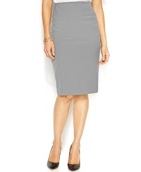 Alfani Classic Pencil Skirt Only At Macy's Grey