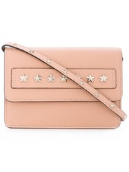 Red Valentino Star Studded Clutch Women Calf Leather Metal One Size Pink Purple