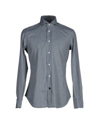 Mazzarelli Shirts Shirts Men Grey