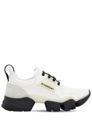 Givenchy Glow In The Dark Leather Jaw Sneakers Off White