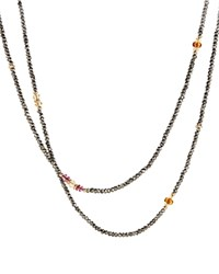 David Yurman Mustique Beaded Necklace With Pyrite Citrine And Pink Tourmaline In 18K Gold Gray Yellow