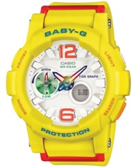 Baby G Women's Analog Digital Yellow Resin Strap Watch 49X44mm Bga180 9B