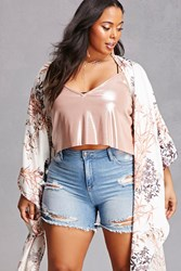 Forever 21 Plus Size Distressed Shorts Light Denim