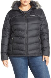 Plus Size Women's Columbia 'Glam Her' Hooded Down Jacket With Faux Fur Trim