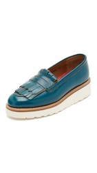 Grenson Juno Loafers Teal