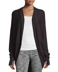 Marc New York Marc Ny Performance Luxe Hooded Cocoon Cardigan Black