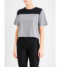 Sapopa Ada Cropped Jersey T Shirt Shades Of Grey