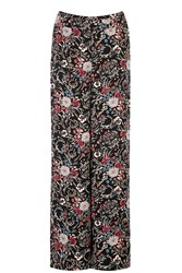 Warehouse Folk Floral Wide Leg Trouser Multi Coloured