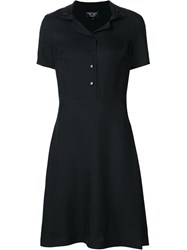 Creatures Of The Wind Short Sleeve Shirt Dress Black
