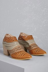 Forever 21 N.Y.L.A. Laser Cut Ankle Boots