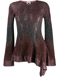 M Missoni Long Sleeve Embroidered Top Brown