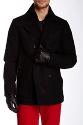 Ben Sherman Wool Blend Funnel Neck Peacoat Black
