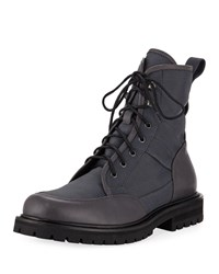 Aquatalia By Marvin K Irus Mesh Boots With Leather Trim Gray