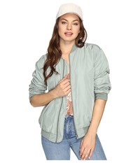 Obey Mako Bomber Jacket Sage Women's Coat Green
