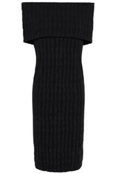 Wolford Woman Off The Shoulder Stretch Modal Jersey Dress Black
