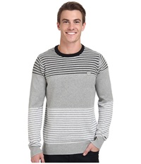 Bench Gridlicker Crew Neck Grey Marl Men's Sweater Gray