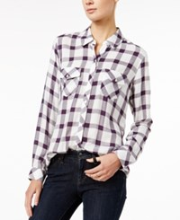 Maison Jules Plaid Shirt Only At Macy's Plum Perfect Combo