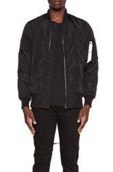 Stampd Strapped Bomber Poly Jacket In Black