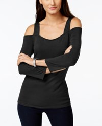Inc International Concepts Long Sleeve Cold Shoulder Top Only At Macy's