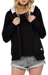 Volcom Women's Lived In Faux Shearling Lined Hoodie