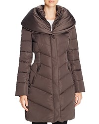 T Tahari Genevieve Puffer Coat Legend Grey