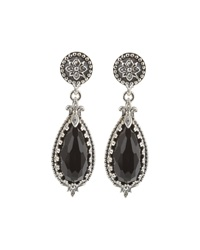 Konstantino Silver And Teardrop Onyx Drop Earrings Black
