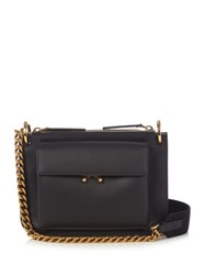Marni Trunk Bi Colour Leather Cross Body Bag Black