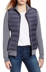 Marc New York Puffer Jacket With Knit Sleeves Early Grey