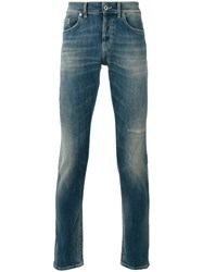 Dondup Ripped Detail Tapered Jeans Blue