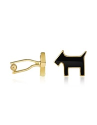 A Z Collection Scottie Enamel Gold Plated Cuff Links