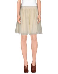 Daniele Alessandrini Skirts Knee Length Skirts Women Ivory