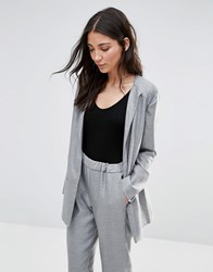 French Connection Ivy Suiting Blazer Light Grey Mel
