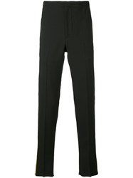 Alexander Mcqueen Tailored Trousers Men Silk Wool 50 Black