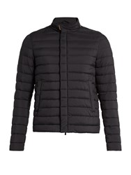 Herno Stand Collar Quilted Jacket Navy