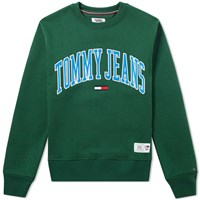 Tommy Jeans Collegiate Crew Sweat Green