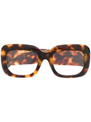 Linda Farrow Tortoise Shell Square Glasses 60