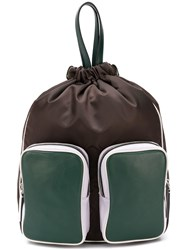 Marni Double Pocket Backpack Brown
