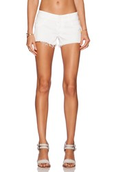 Black Orchid Lola Cut Off Short Snow White
