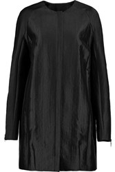 Amanda Wakeley Textured Satin Coat Black