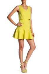 Black Halo Shawna Mini Dress Yellow