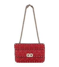 Valentino Small Spike Rockstud Bag Female Red